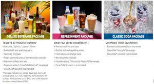 Beverage Package Information